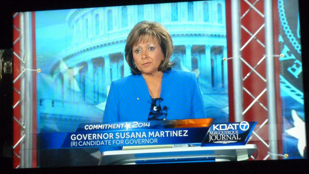 NM Gov. Susana Martinez promised to serve a full 4-yr term if reelected. Photo by Mike Marcotte / NM News Port