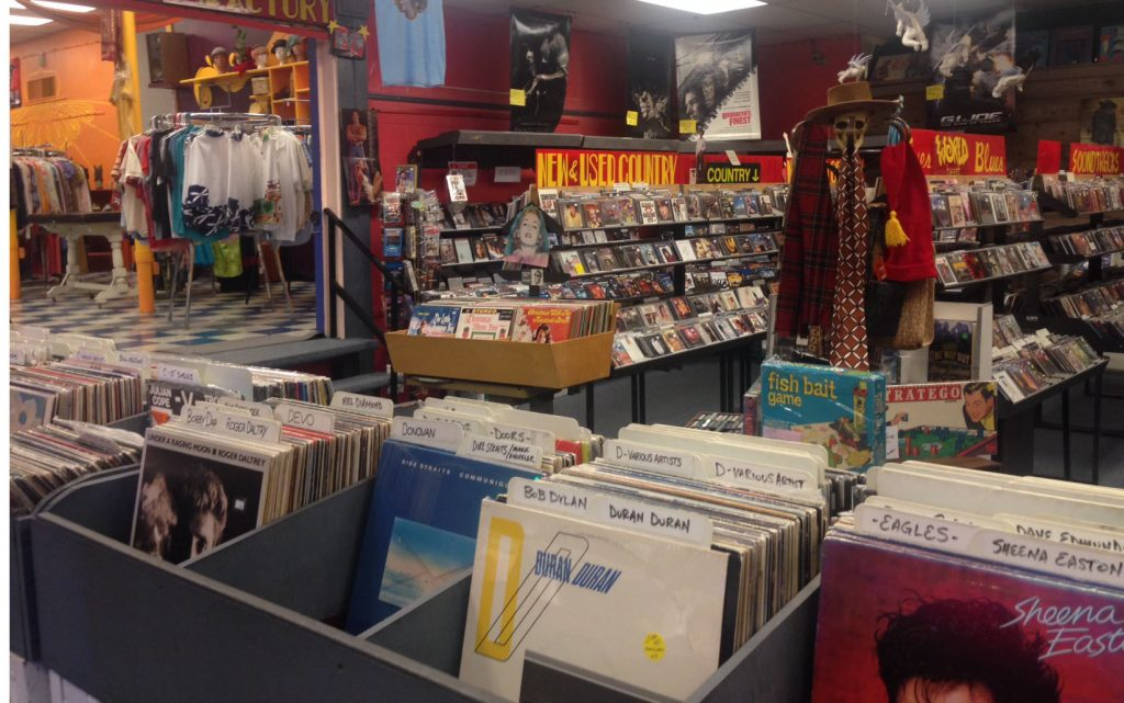Charley's 33's and CD's on Menaul continues to survive as an Albuquerque staple music store. Photo by Kenneth Ferguson / NM News Port