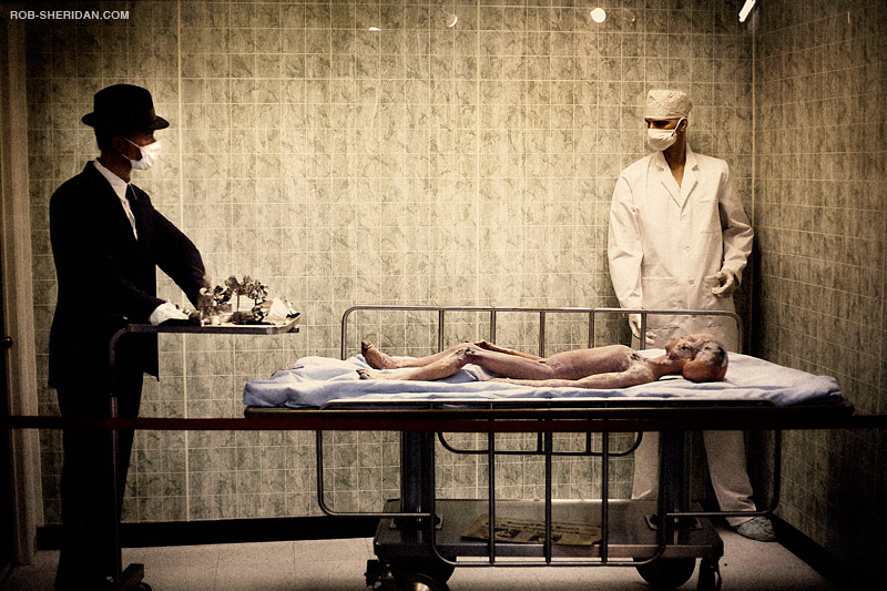 """The UFO Museum and Research Center features an """"alien autopsy scene"""" as one of the exhibits. Photo by Rob Sheridan"""
