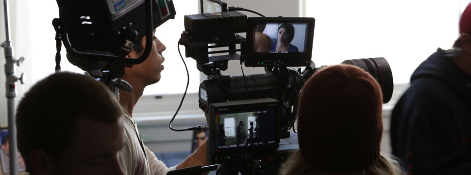 UNM Interdisciplinary Film and Digital Media program students film a project. Photo by Nick Nelson