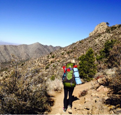 Hiking the La Luz trail. Photo courtesy of Charlotte Tossebro.