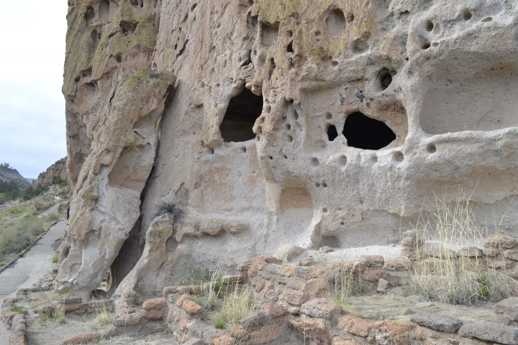 Bandelier National Monument features hand-carved cavettes by ancient Pueblo Indians. Photo by Tania Martinez/NMNP