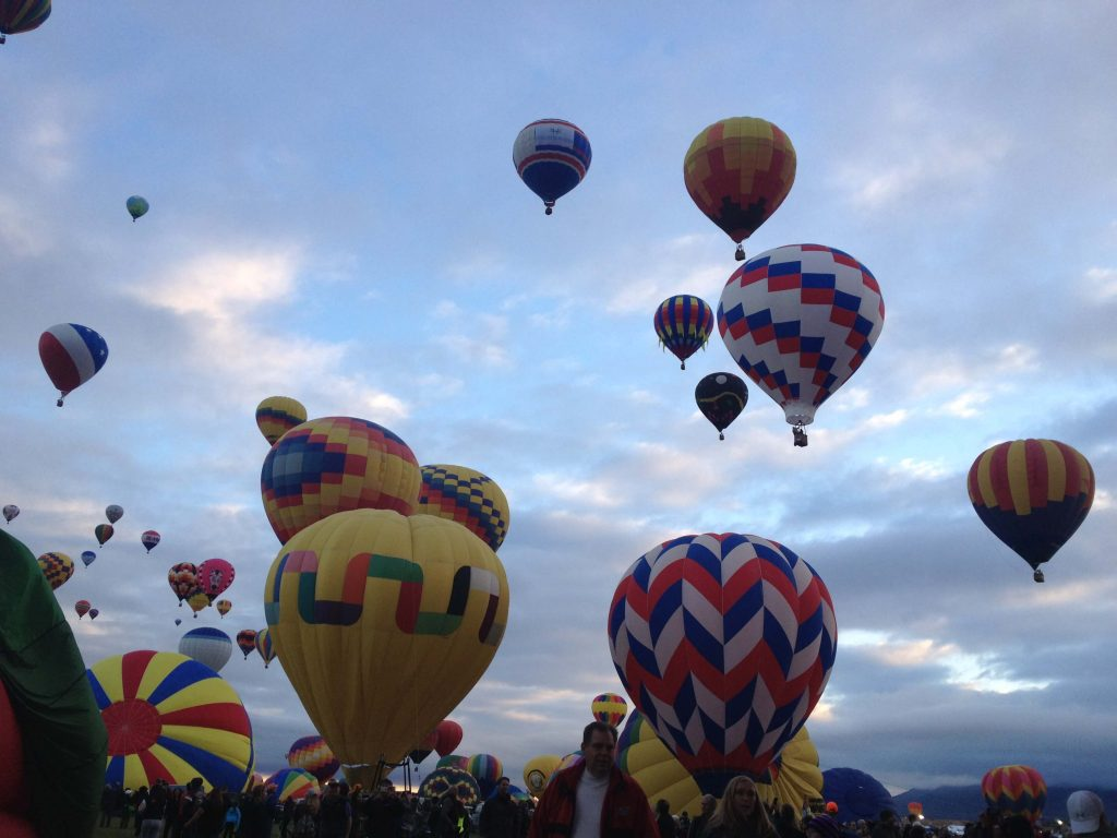 The fiesta began in 1972 with only 14 balloons but now has grown to encompass about 600 balloons, according to balloonfiesta.com.  Photo by Lauren Marvin / NMNP