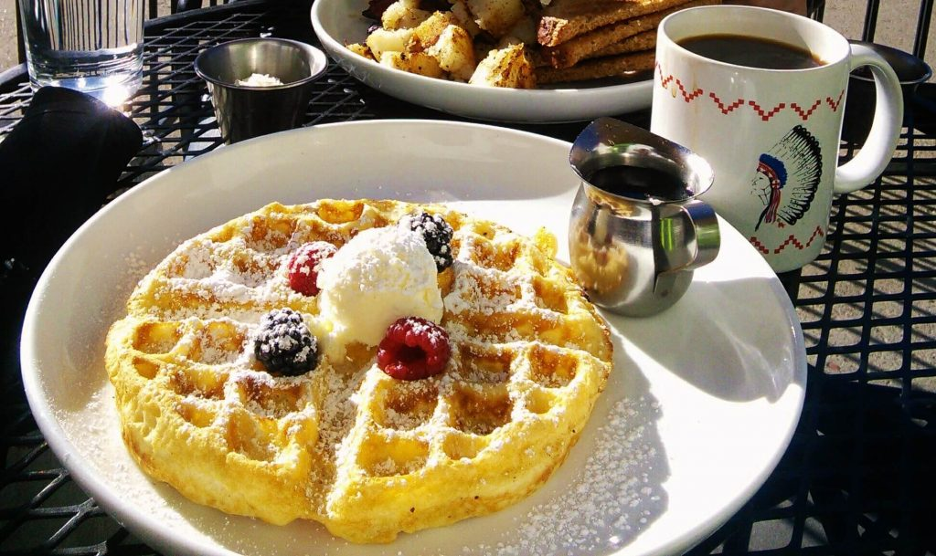 Pictured below is a crisp Belgium waffle topped with organic raspberries and blackberries. Photo by Veronica Munoz/NMNP