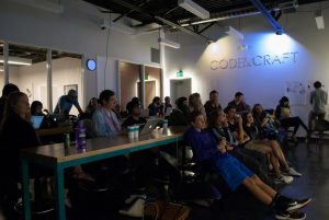 Guild attendees watching Kurt Hollowell's presentation. Photo by Ryan Kampmeier / NM News Port.