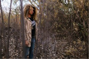 A model wearing Eternal Made apparel via their website. Courtesy photo.
