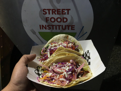The Korean BBQ Pork Tacos are the Street Food Institute's most popular dish. Photo by John Acosta / NM News Port.