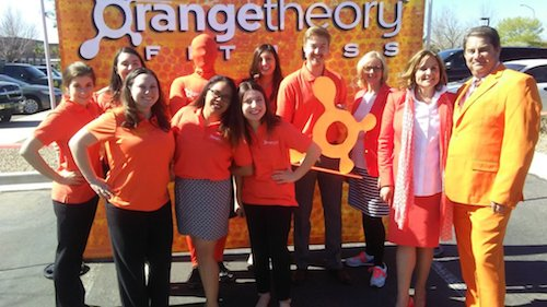 Here is the Siarza Social Digital Team at a Press conference for their client, Orange Theory Fitness. This is a startup in the Riverside Plaza, west side Albuquerque. Photo by Savana Carollo / NM News Port