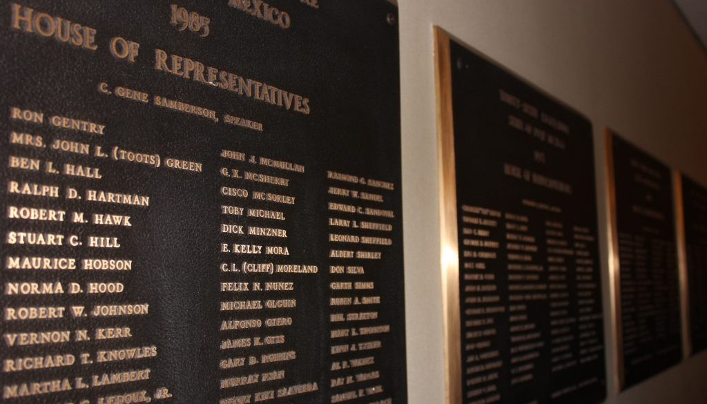 House of Reps Plaque in Santa Fe