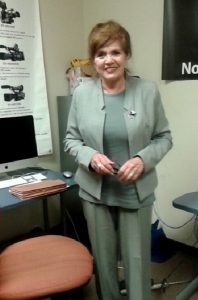 Maryellen Ortega-Saenz at the NM News Port. Ortega-Saenz says voter IDs will lead to less voter fraud. Photo by Angela Shen / NM News Port