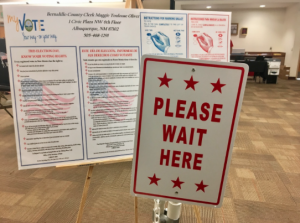 The UNM voting poll is located on the third floor of the Student Union Building. The station is open to the public and students Monday- Saturday, 8 a.m.- 8 p.m. Photo by Katherine Whiting