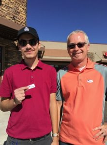 Matthew Kletecka (right) and Damon Kletecka (left) voted outside of the Bernalillo County Voting Center on 6500 Holly Ave. They say they were excited to have voted.