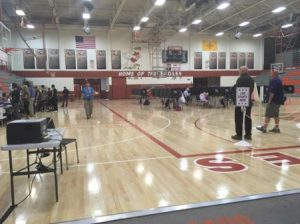 Some Albuquerque citizens went to Eldorado High School to vote on Election Day. The location has seen a steady flow of voters coming in.