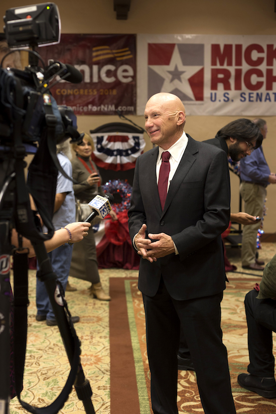 Mick Rich talks to KRQE after losing the Senate seat to incumbent Martin Heinrich on Nov. 6. Photo By Anna Padilla/ NM News Port