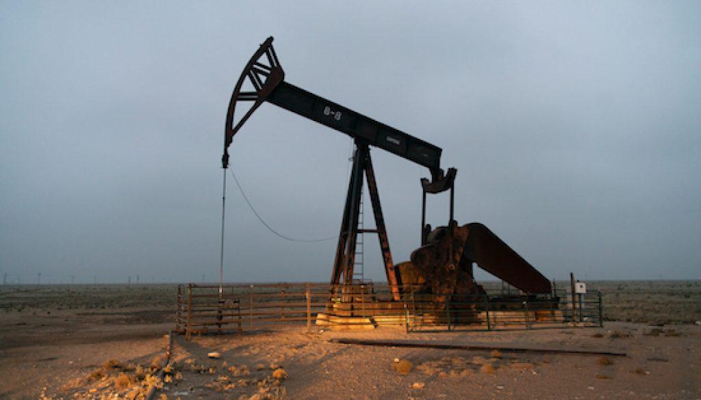 Pump jacks near Lovington, NM