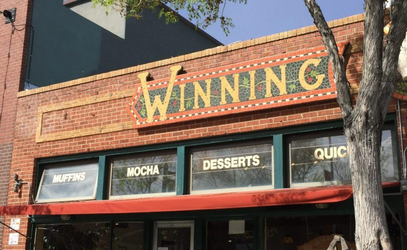 Front of winning coffee