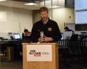 mayor keller addressing press conference