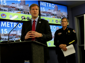 mayor and police chief at press conference
